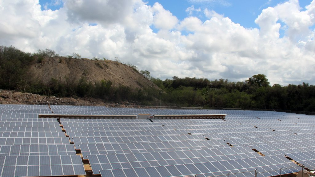 The plant comprises 5040 panels with inverters that capture the sunlight and convert it into energy.
