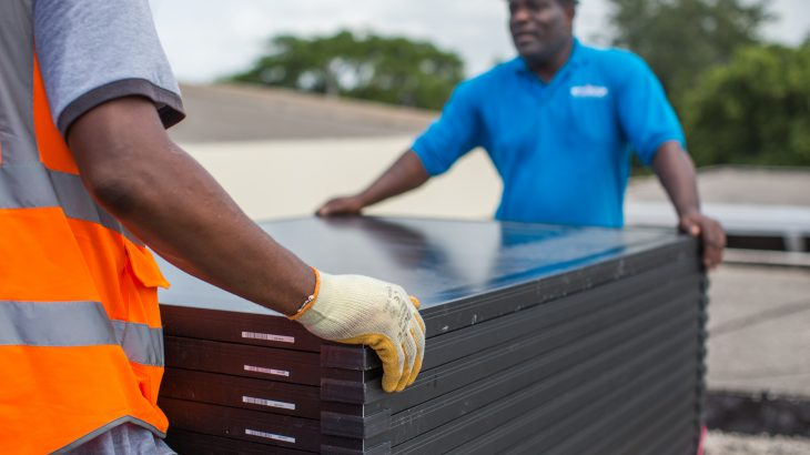 Jamaica Solar Head of State installation