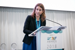 Julie Taylor, Editorial Director of New Energy Events announcing the CREF 2018 Awards