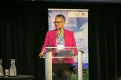 Monica La Bennett, CDB speaking at Island Resiliency Action Challenge