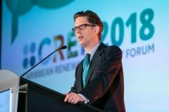 Matt Perks, CEO of New Energy Events kicking off CREF 2018